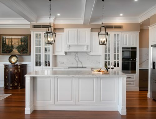 Smartstone Statuario Venato featured in a Classic French Provincial Kitchen